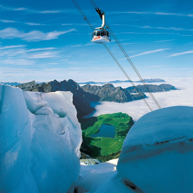 Mt. Titlis Rotair cable car, Switzerland. Traveled here Sept. 2011.