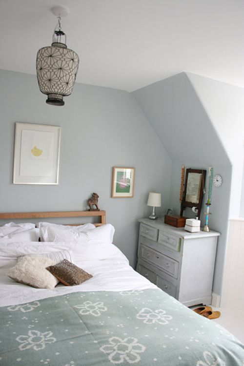 cumulus cloud paint by martha stewart - blue-gray for living room