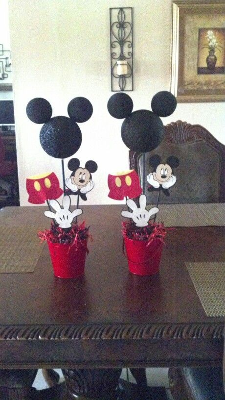 Mickey mouse centerpieces
