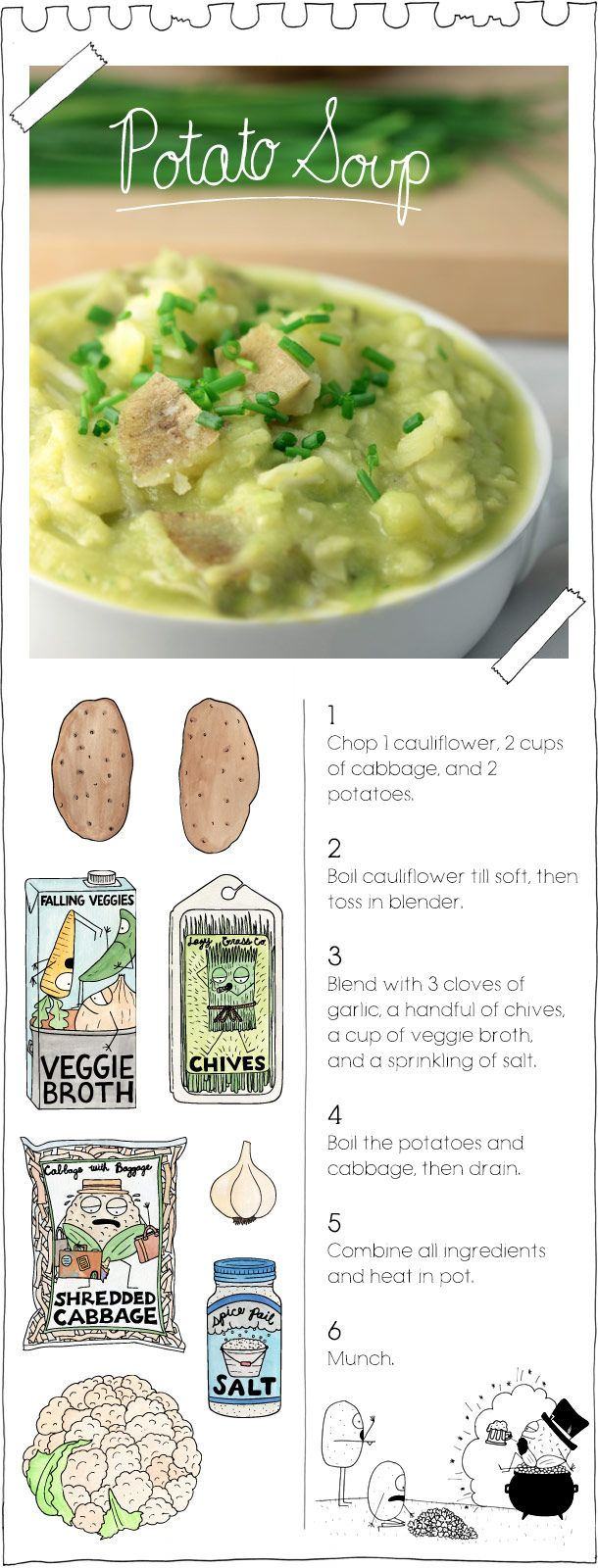 Potato Soup {by the vegan stoner}- maybe have this for dinner this chilly night.
