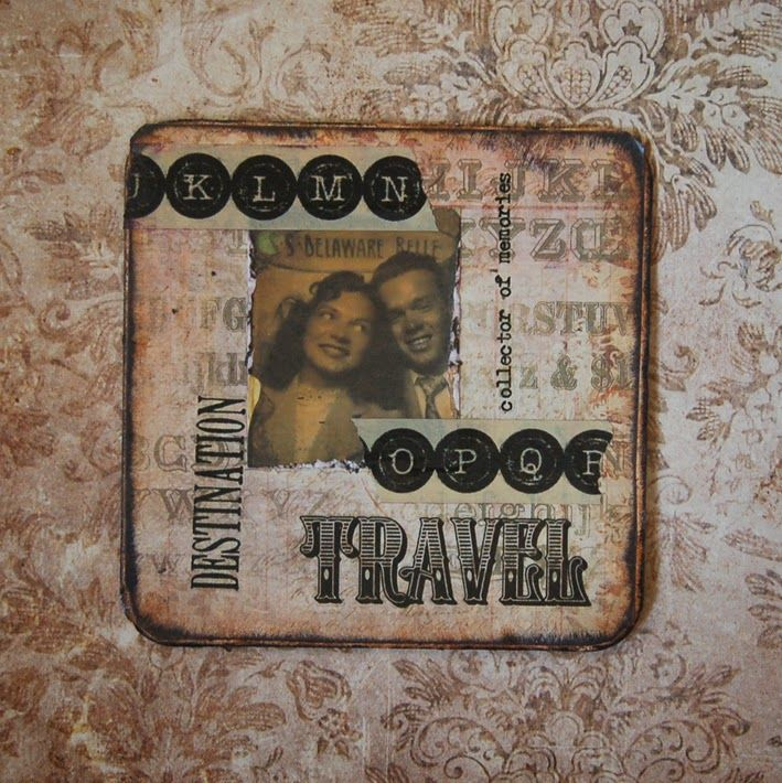 Altered beer mat /coaster | Altered Misc. | Pinterest