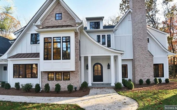 This newly built 1920's Tudor Revival inspired home is located at 838 Seneca Road in Franklin Lakes, New Jersey.