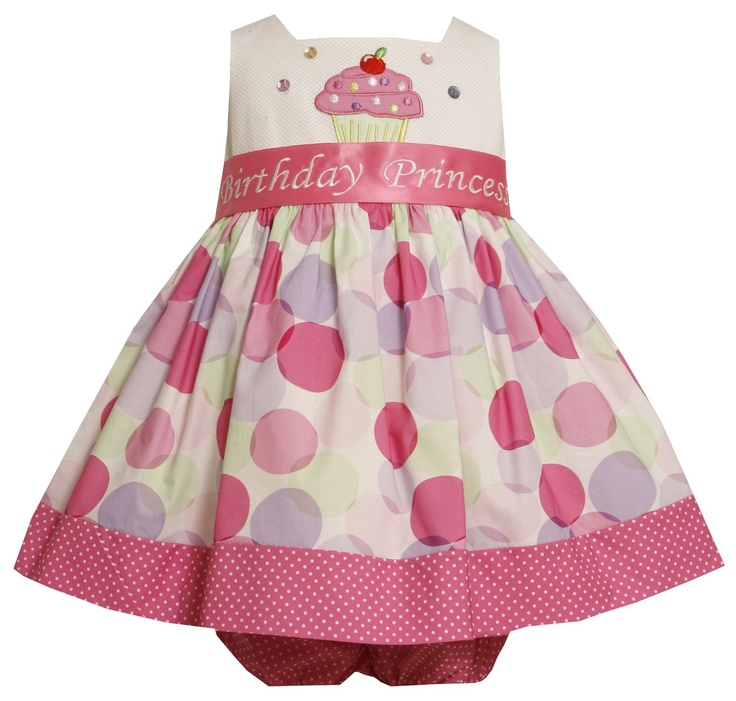 Bonnie Baby Baby-Girls Infant Cupcake Applique Birthday Dress, (1st birthday dress, birthday dress, birthday dresses, birthday outfits, first birthday dress, in, toddler girls birthday dresses)