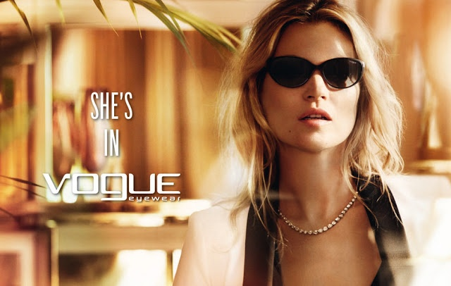 Vogue Eyewear Campaign Fall 2012 with Kate Moss