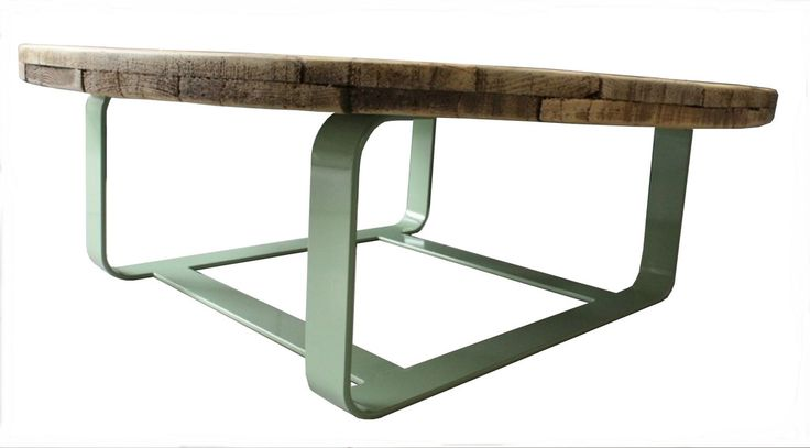 Cable Table | Reclaimed wood coffee table from an old cable drum on a steel frame | salvationfurniture.com | Warehouse Home Design Magazine