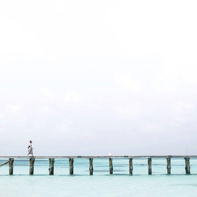 walking along the jetty #Maldives