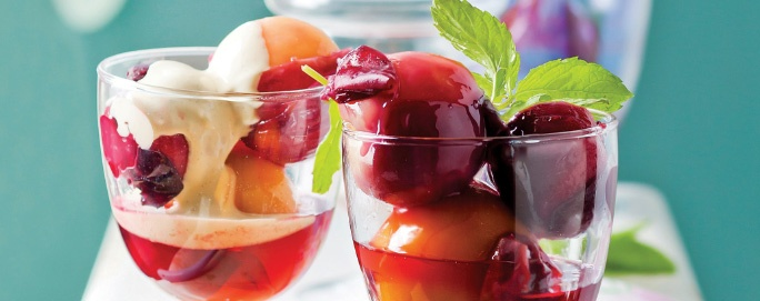 Poached Stone Fruit & Vanilla Mascarpone Cream | Desserts & Baking | Recipes | Woolworths.co.za