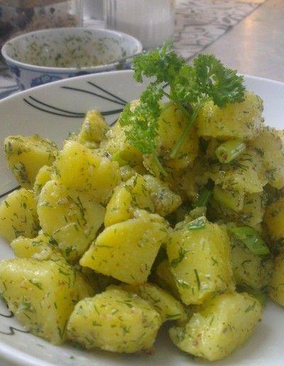 Potatissallad med gravlaxsås