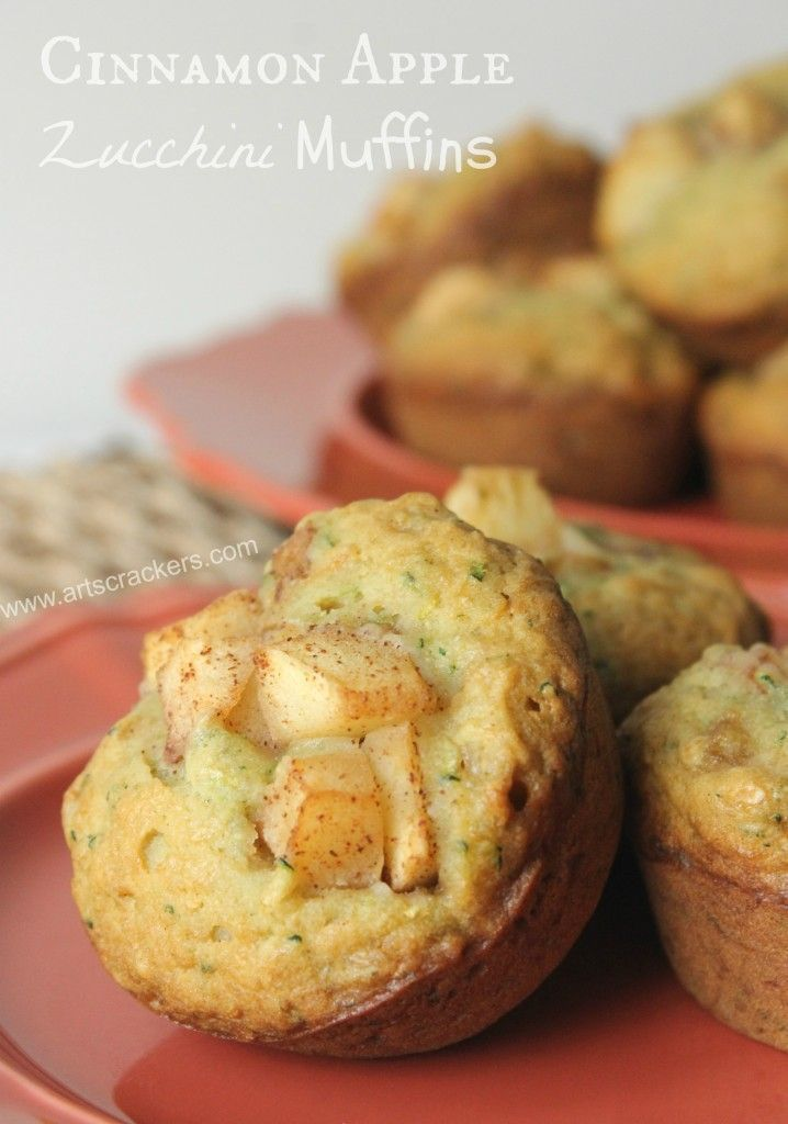 Cinnamon Apple Zucchini Muffins Recipe | Muffins | Breakfast | Baking | Baked Goods | Apple | Zucchini | Morning | Snack | Dessert | Recipe | Cooking | Food | Food Blog