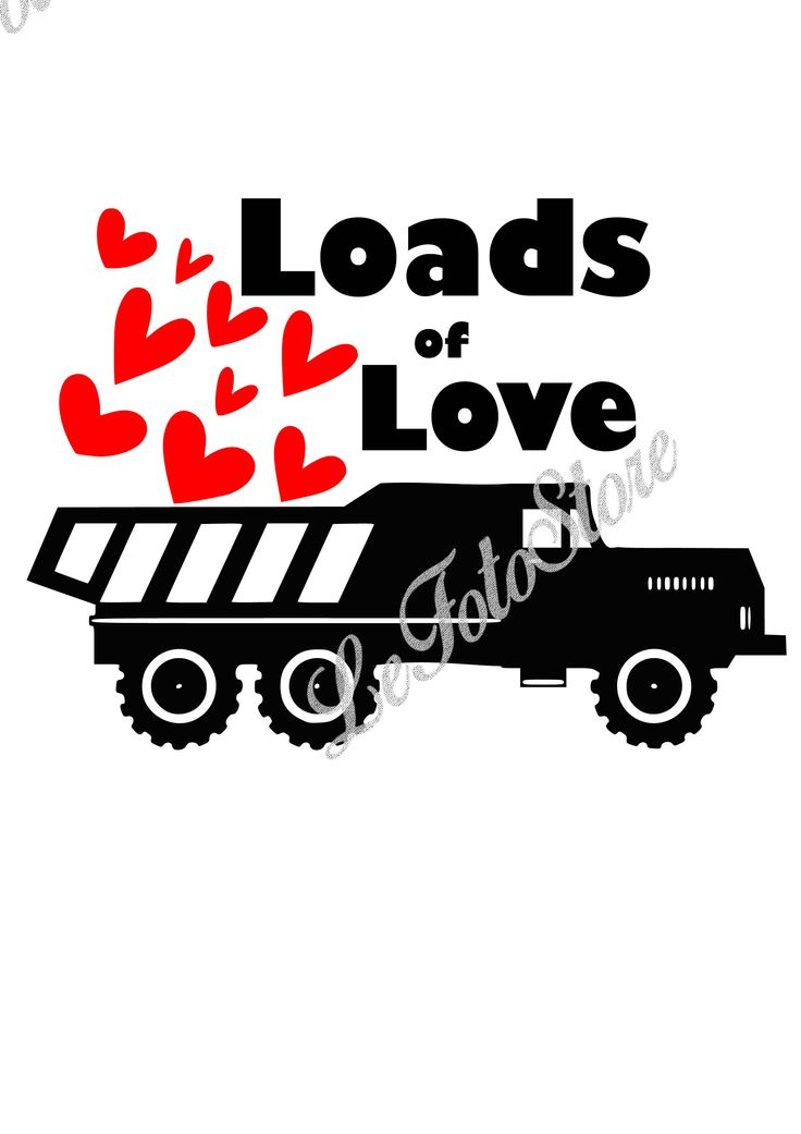 1243+ Loads Of Love Truck Svg for Silhouette