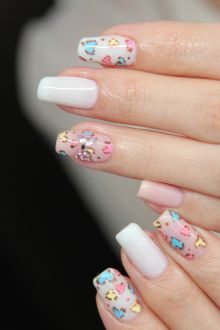 Leopard Heart nails