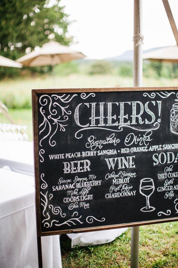 Great #wedding cocktail signage | Photography: Fabrice Tranzer - www.fabricetranzer.com  Read More: http://www.stylemepretty.com/2014/05/09/diy-hudson-valley-farm-wedding/