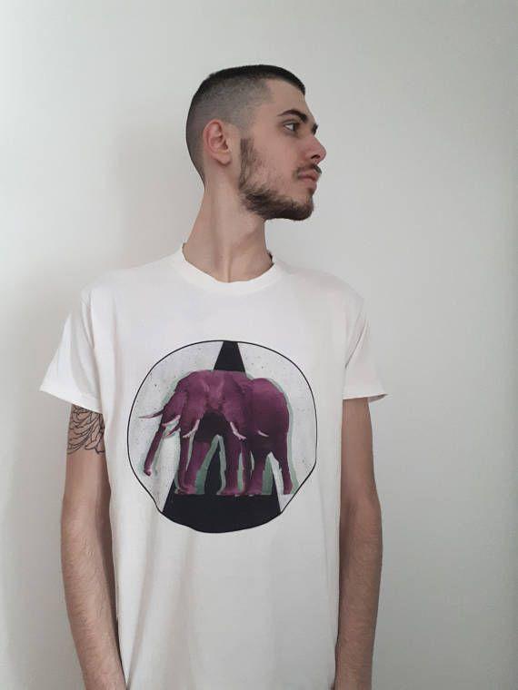 Dark Graphic White T-shirt Graphic Tee Trippy Dystopians