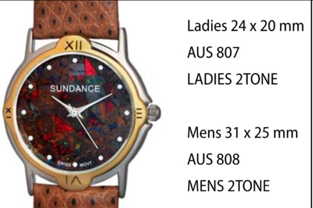 "Australian ""Boulder"" Opal Watches style 807 Ladies 2Tone 24 x 20 mm each click here to add to cart"