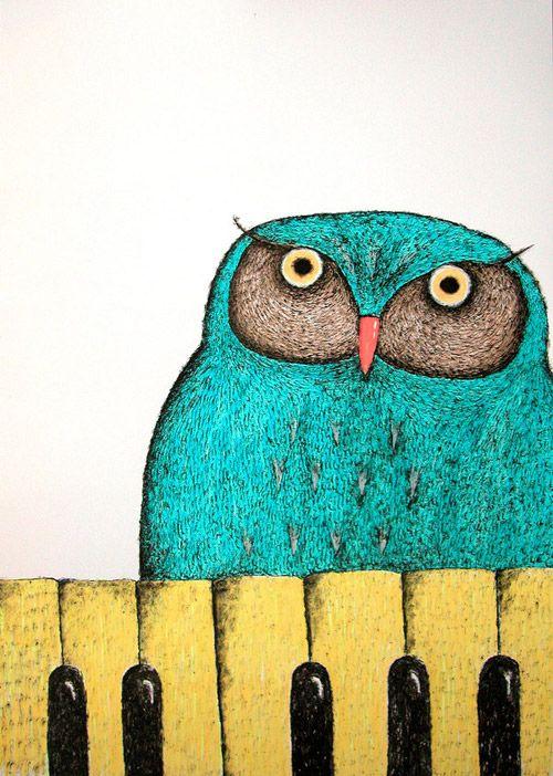 Dmitry Geller: Illustrations Owl, Owl Illustrations, Art Illustrations, Hoot Owl, Animal Art, Owl Artcraftsnicnac, Blue Owl, Dmitri Geller, Dmitri Owl3