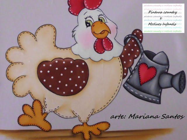 Está galinha country é muito fácil de fazer, e fica uma graça, eu pintei ela em uma capa para galão de água, mais você pode fazer ela em va...