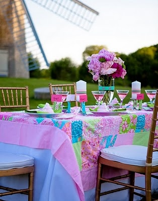 lilly garden partyTables Sets, Lilly Pulitzer, Theme Parties, Lilies Pulitzer, Parties Ideas, Lily Pulitzer, Gardens Parties, Parties Time, Bridal Showers