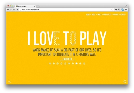 personal page, made simple, fun, enjoyable http://www.adamhartwig.co.uk/