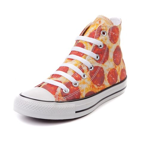 Shop for Converse All Star Hi Pizza Sneaker in Pizza at Journeys Shoes. Shop today for the hottest brands in mens shoes and womens shoes at Journeys.com.Hand tossed high top served up as one tasty slice of canvas. Now available only at Journeys, this Converse All Star Hi Pizza Sneaker features a pizza print canvas upper, white contrast lace closure, and durable rubber sole. Available only at Journeys! Available for shipment in July; pre-order yours today!