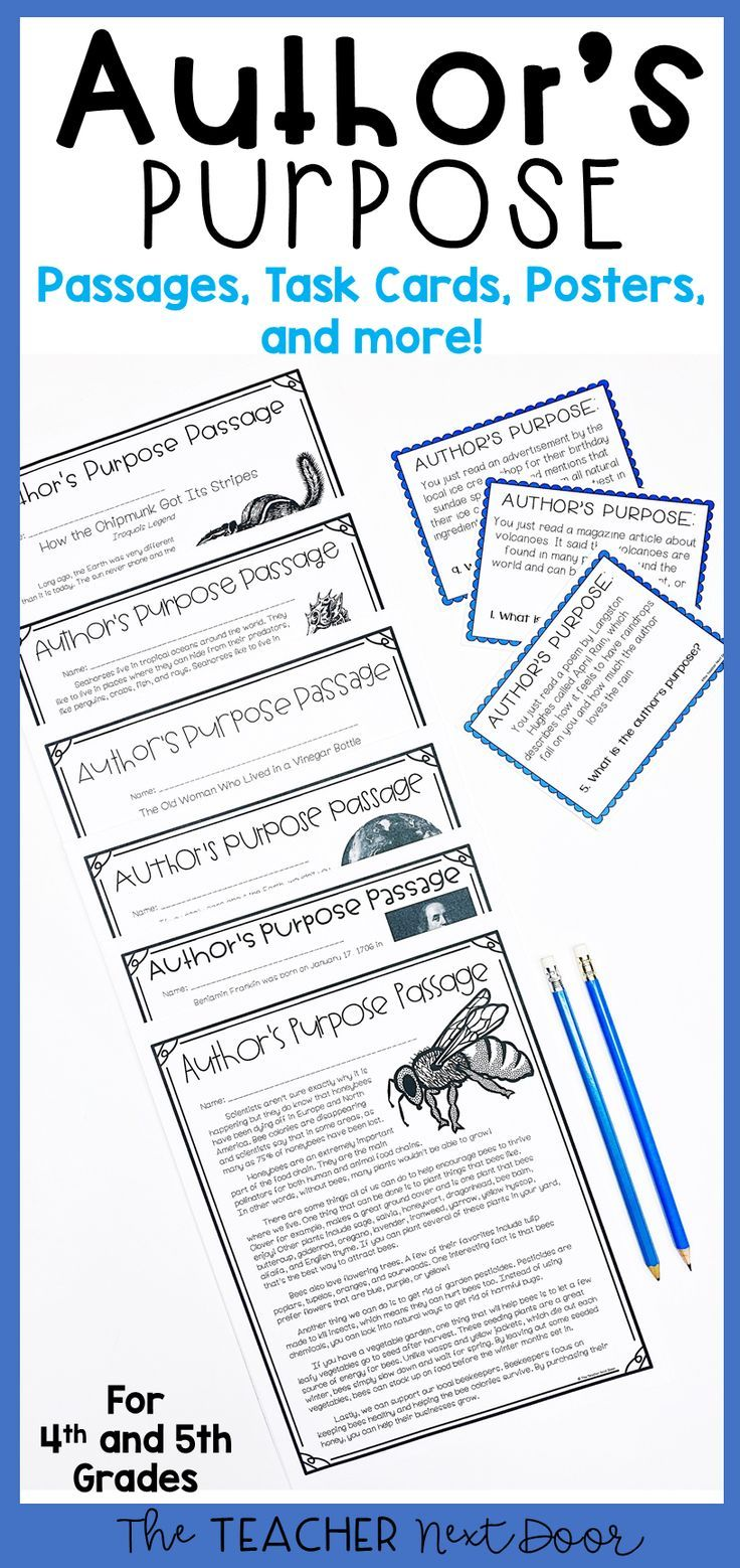 Author S Purpose For 4th And 5th Grades Authors Purpose Activities Authors Purpose Authors Purpose Third Grade