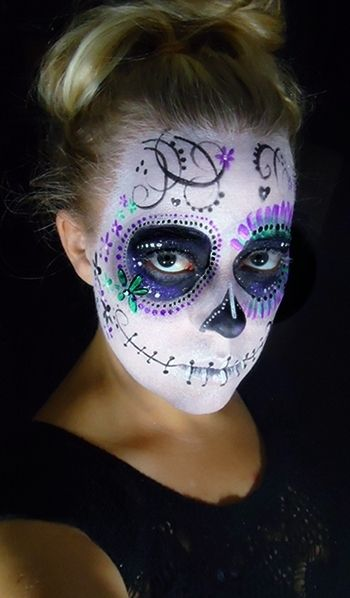 Traditional Day Of The Dead Face Painting