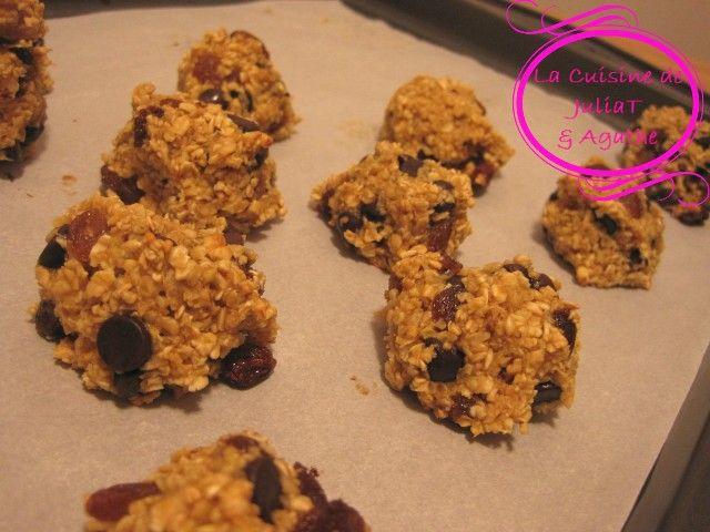 Biscuits allégés aux flocons d'avoine et chocolat