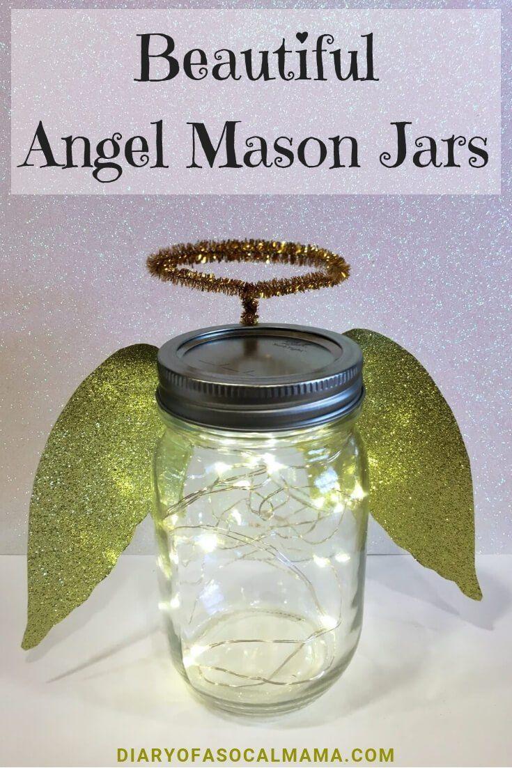 Beautiful Angel Mason Jar Christmas Crafts Diary Of A So Cal Mama Mason Jar Christmas Crafts Christmas Mason Jars Christmas Jars
