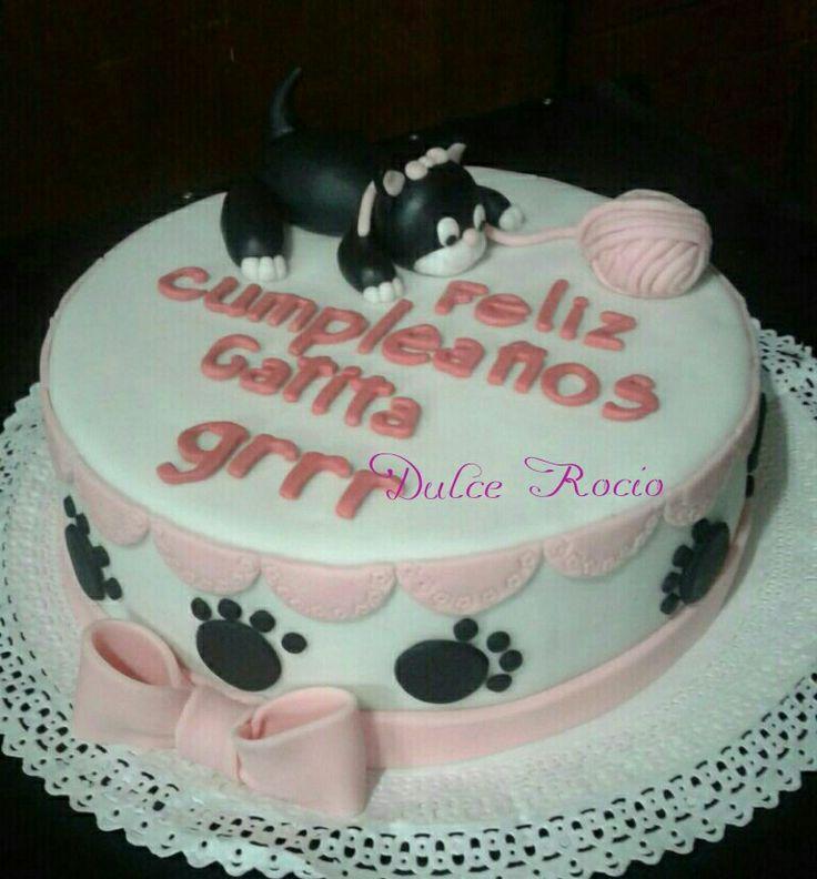 Cat cake fondant