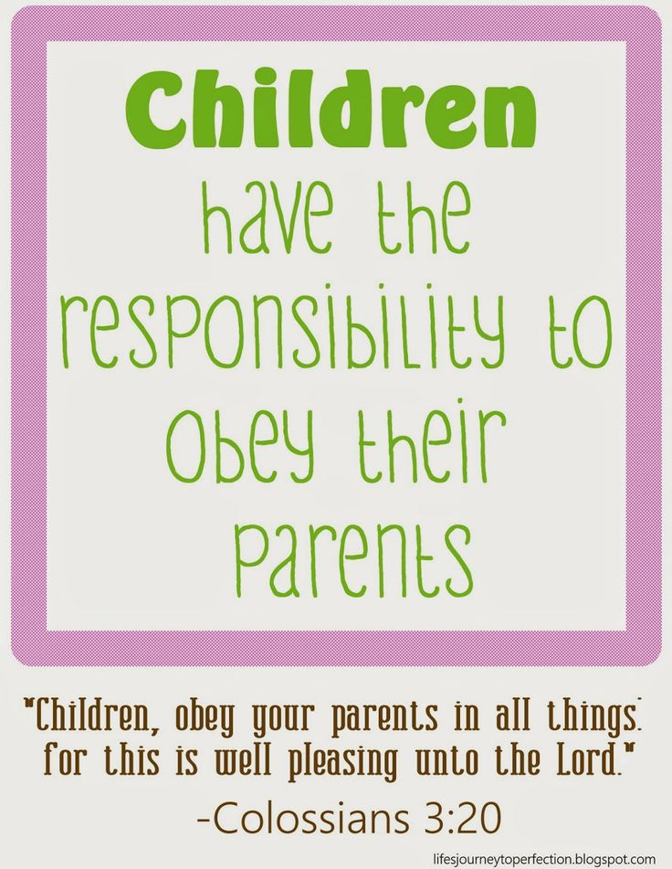duty of children toward their parents In this study we will consider the duty of children to their parents god's will for children how important is it for children to obey parents much in every way, for the family is the foundation of all other institutions thus, when children are disobedient to their parents, it demonstrates how decadent a society has become.