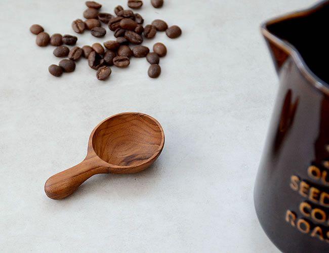 チーク コーヒースプーン スプーン コーヒー オルネ