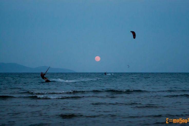 Kiteboarding @loutsa greece