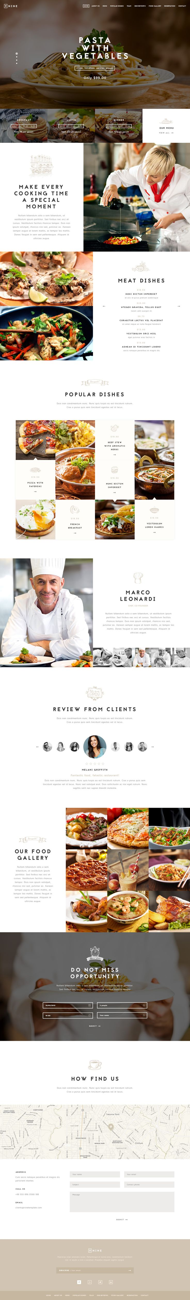 Nine - Premium One Page Design
