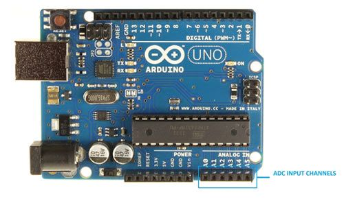 Arduino ADC Pins