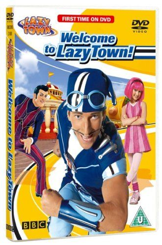 """Welcome to LazyTown (2006) """"In this series, Stephanie, an optimistic 8-year-old with bright pink hair, comes to live in LazyTown and meets a zany mix of townspeople including the world's laziest super-villain, Robbie Rotten. Fortunately for Stephanie, LazyTown is under the watchful eye of Sportacus, an athletic superhero who helps the inhabitants of LazyTown battle Robbie's latest lazy schemes."""""""