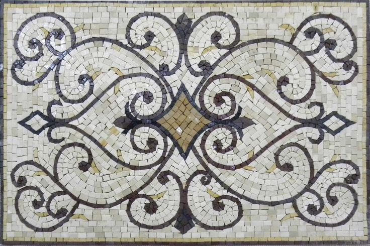 Rectangular Rug Mosaic Art Tile Design Pattern – Varinad | eBay