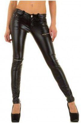 Sexy Ελαστικό Παντελόνι Δερματίνη L2153