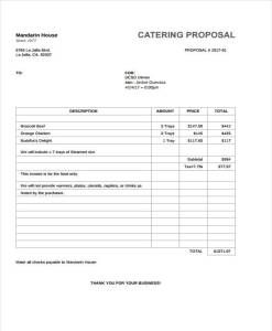 Best Catering Template Images On   Proposal Letter