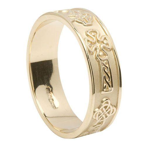 all WG <3 S Mens 7.4 mm Celtic Cross Wedding Ring