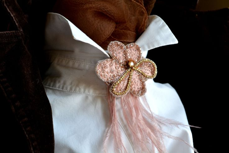 New Collection Wind Mauve Brooch by KozimoEmbroideries on Etsy