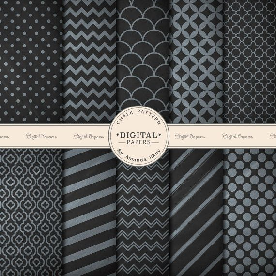 Professional Chalk Patterned Digital Papers for Scrapbooking, Crafts & More - Chalk Patterns, Chalk Papers, Chalkboard Papers, Chalk Texture