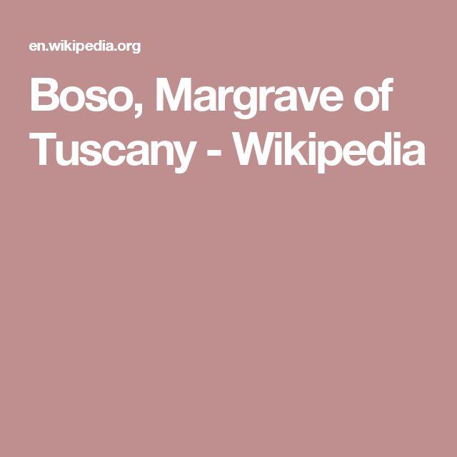 Boso, Margrave of Tuscany - Wikipedia