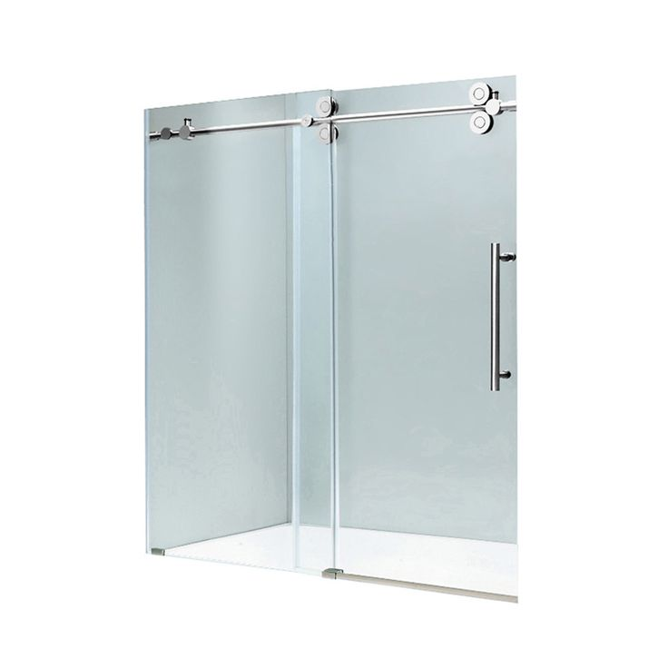 "VIGO 72-inch Frameless Shower Door 3/8"" Sliding Shower Door - 12636417 - Overstock.com Shopping - Big Discounts on Vigo Shower Doors"