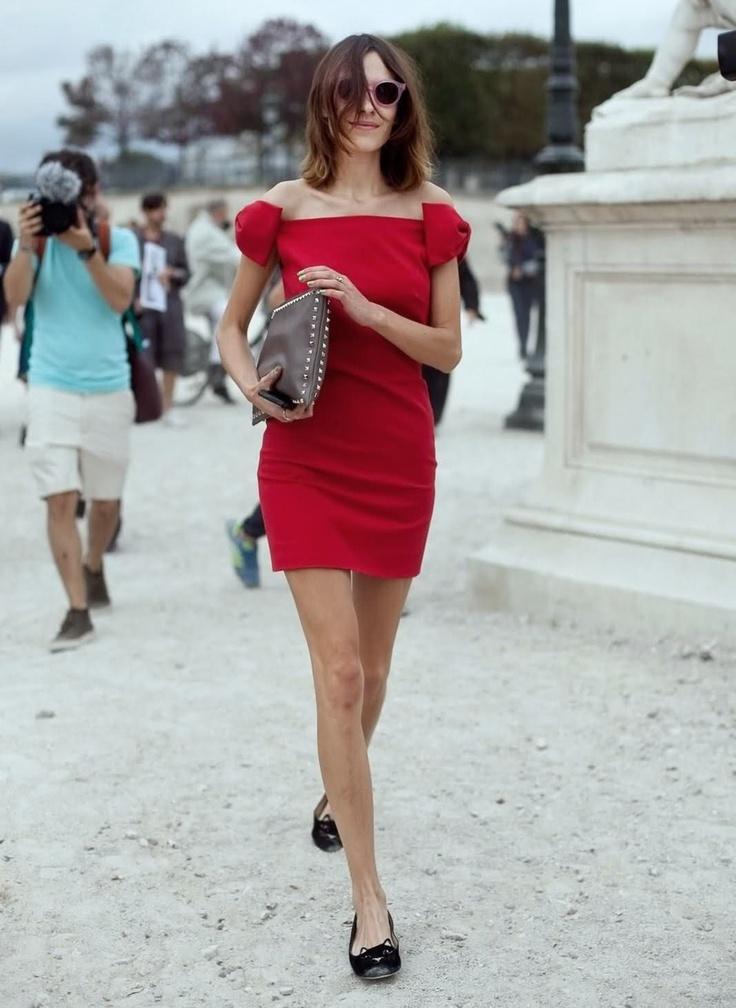 alexa chung, this dress is so parisian chic