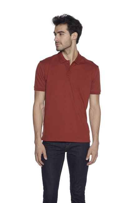 bb7746a7ffce Westsport Mens by Westside Rust Slim Fit Polo T-Shirt - | 699.00 ...