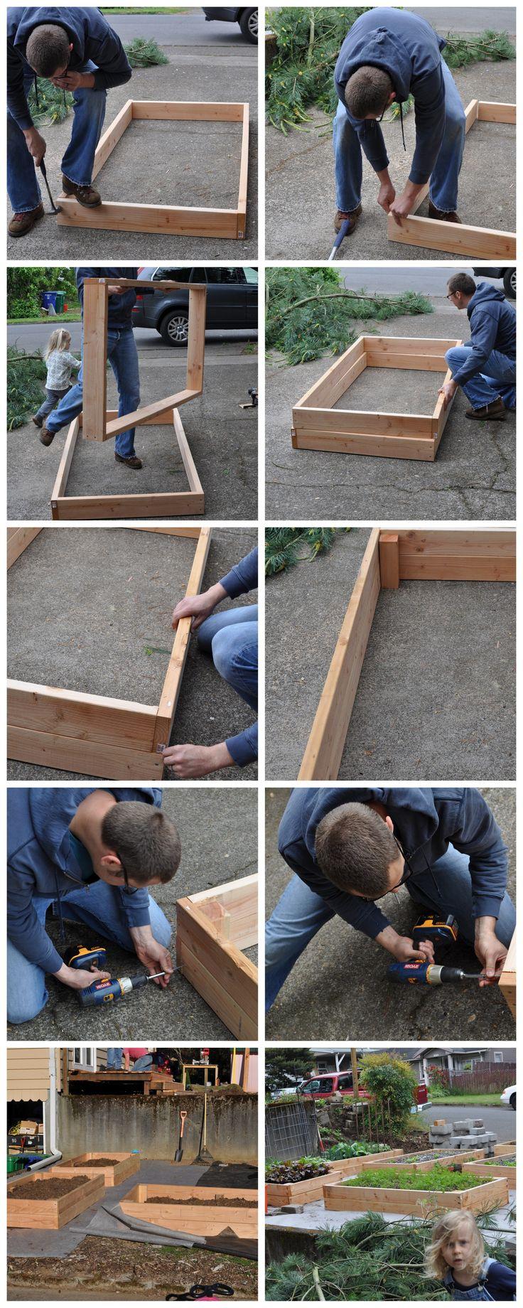 faciles lits de jardin de bricolage soulevé