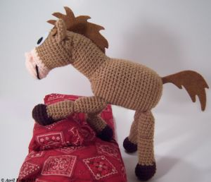 Caballo Perdigón de Toy Story Amigurumi - Patrón Gratis en Español - versión en PDF click en la imágen del caballo aquí: http://hastaelmonyo.com/?p=2322