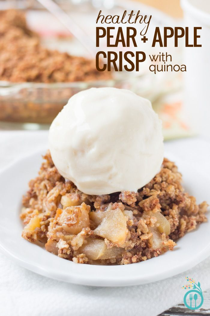 Healthy Quinoa Apple Crisp - a lightened up version of a favorite dessert