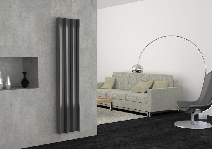 Groove, radiatore d'arredo in alluminio
