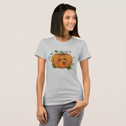 Pumpkin Kiss Emoji Thanksgiving Halloween T-Shirt - thanksgiving day family holiday decor design idea