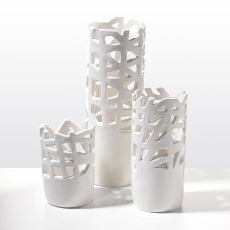 Unisoncutaway White Vases 45 00 85 Like Cs Modern Cousins These Layer Negative